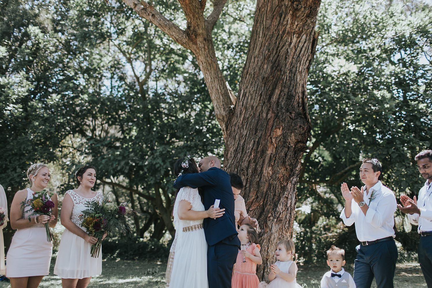 first kiss during wedding ceremony in sydney