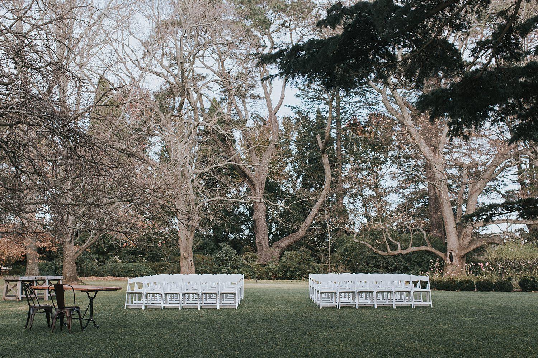 bendooley estate wedding ceremony on the lawn