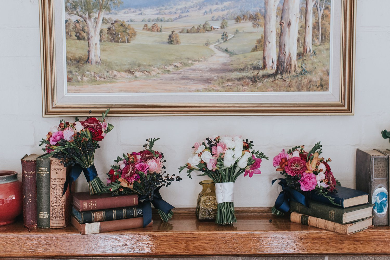 bridal bouquets at bendooley cottage