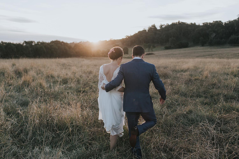 sunset wedding photography in berrima