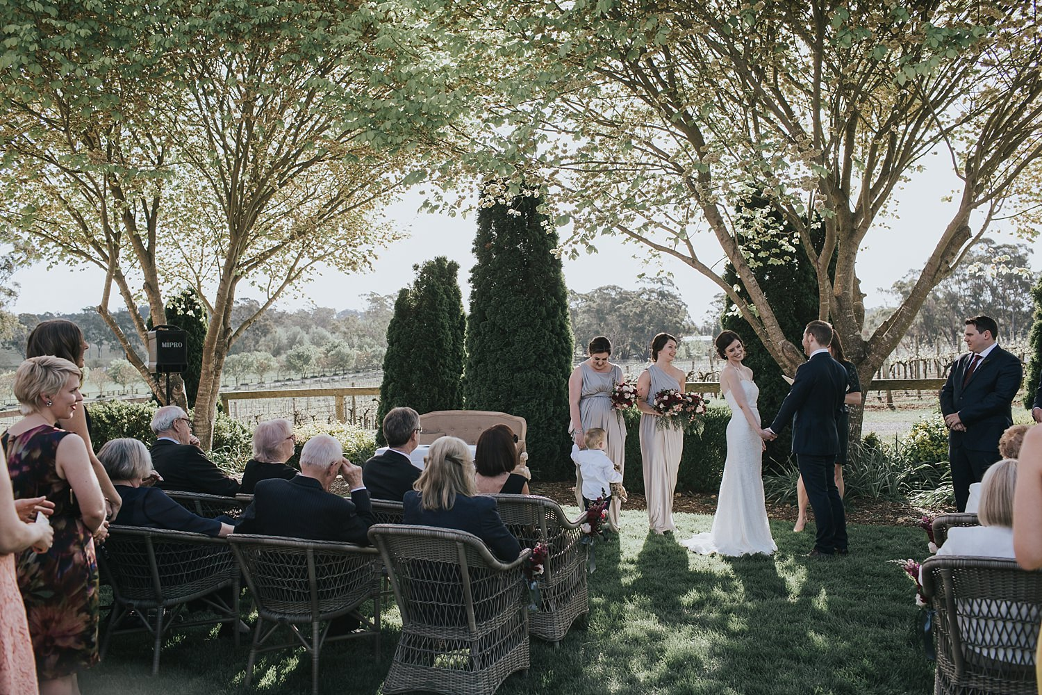 centennial vineyards wedding ceremony