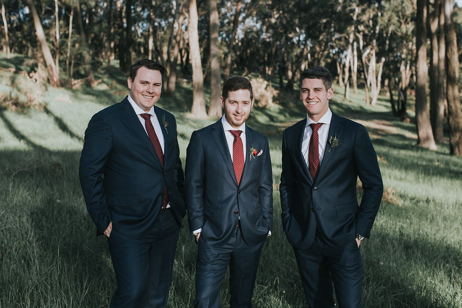 groomsmen at bowral wedding