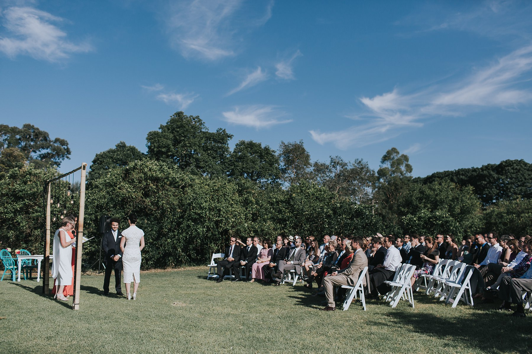 wedding ceremony with guests at cornwallis