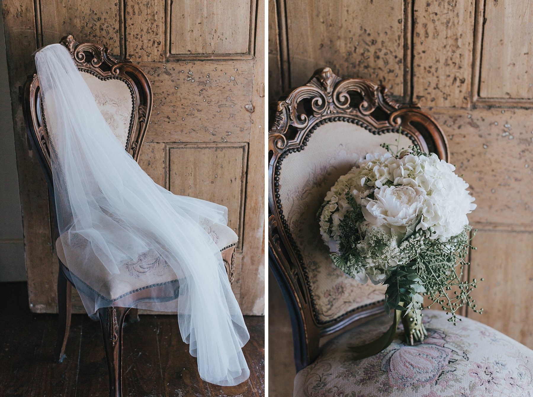 flowers and veil for mudgee wedding