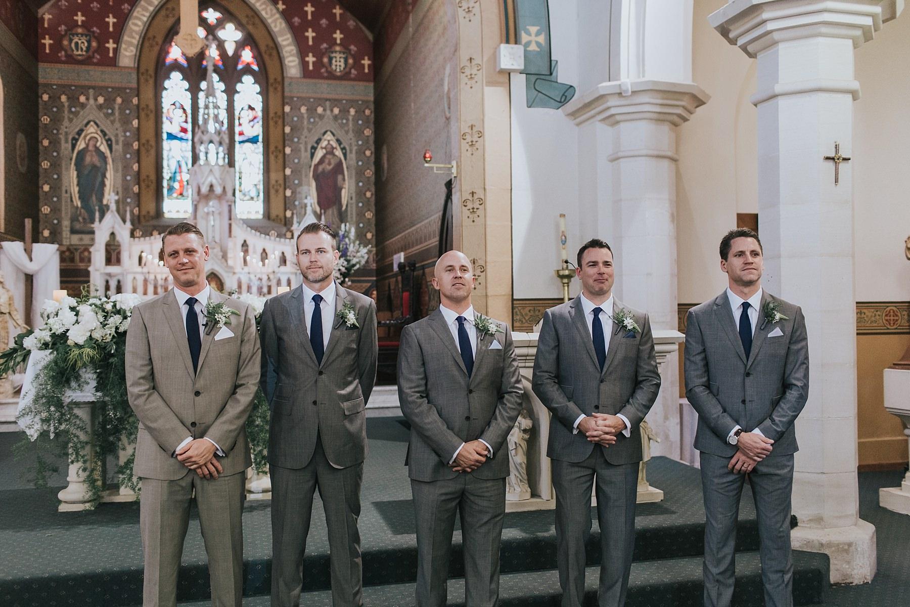 groom waiting at st marys catholic church mudgee