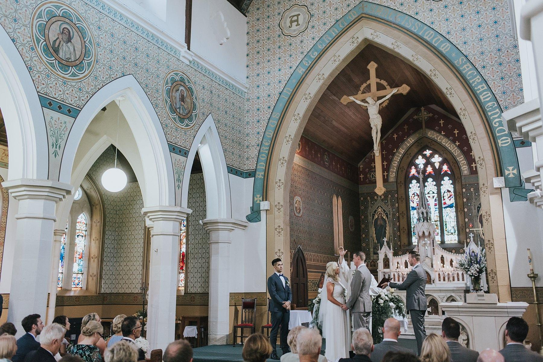 wedding photograph at st marys catholic church mudgee