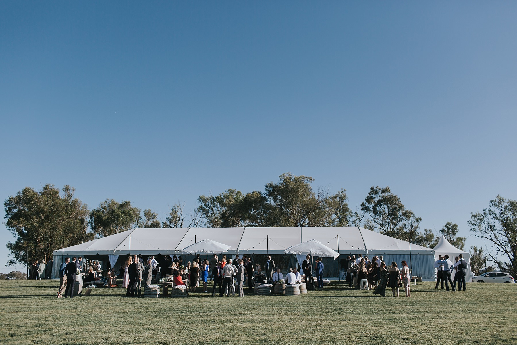 outdoor wedding reception party