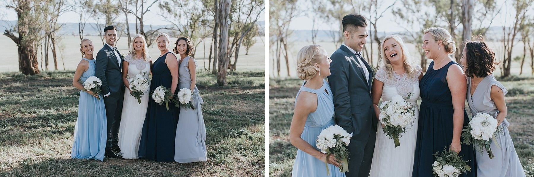 mudgee bridal party photos