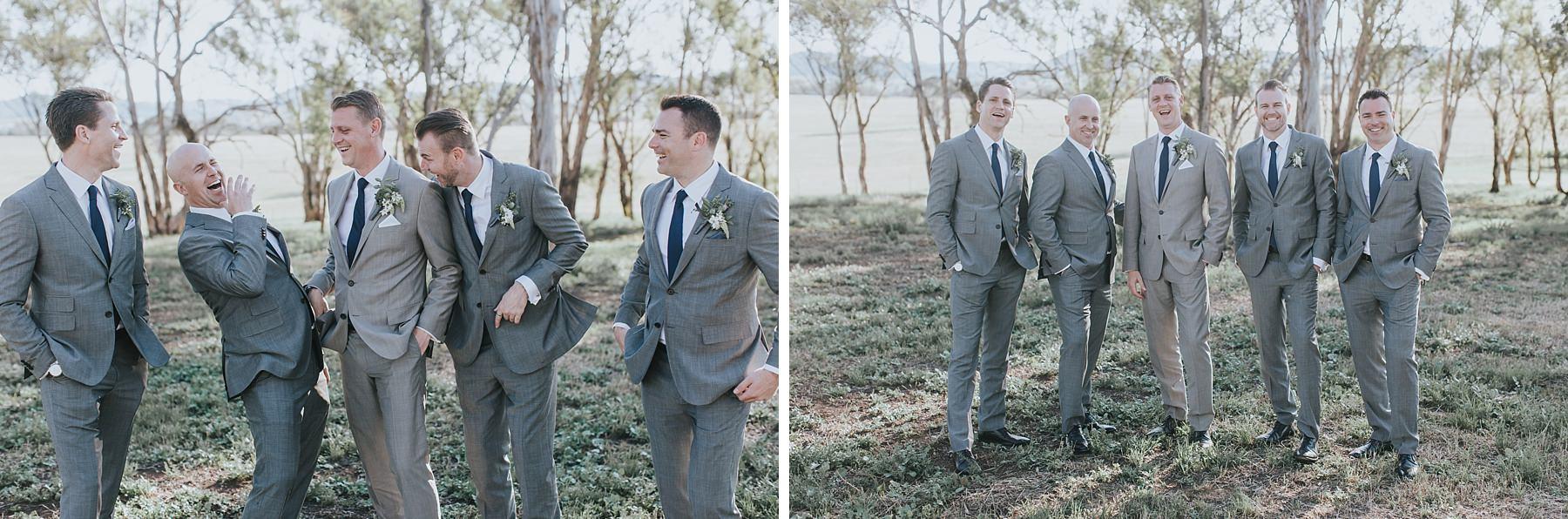 mudgee groomsmen photos