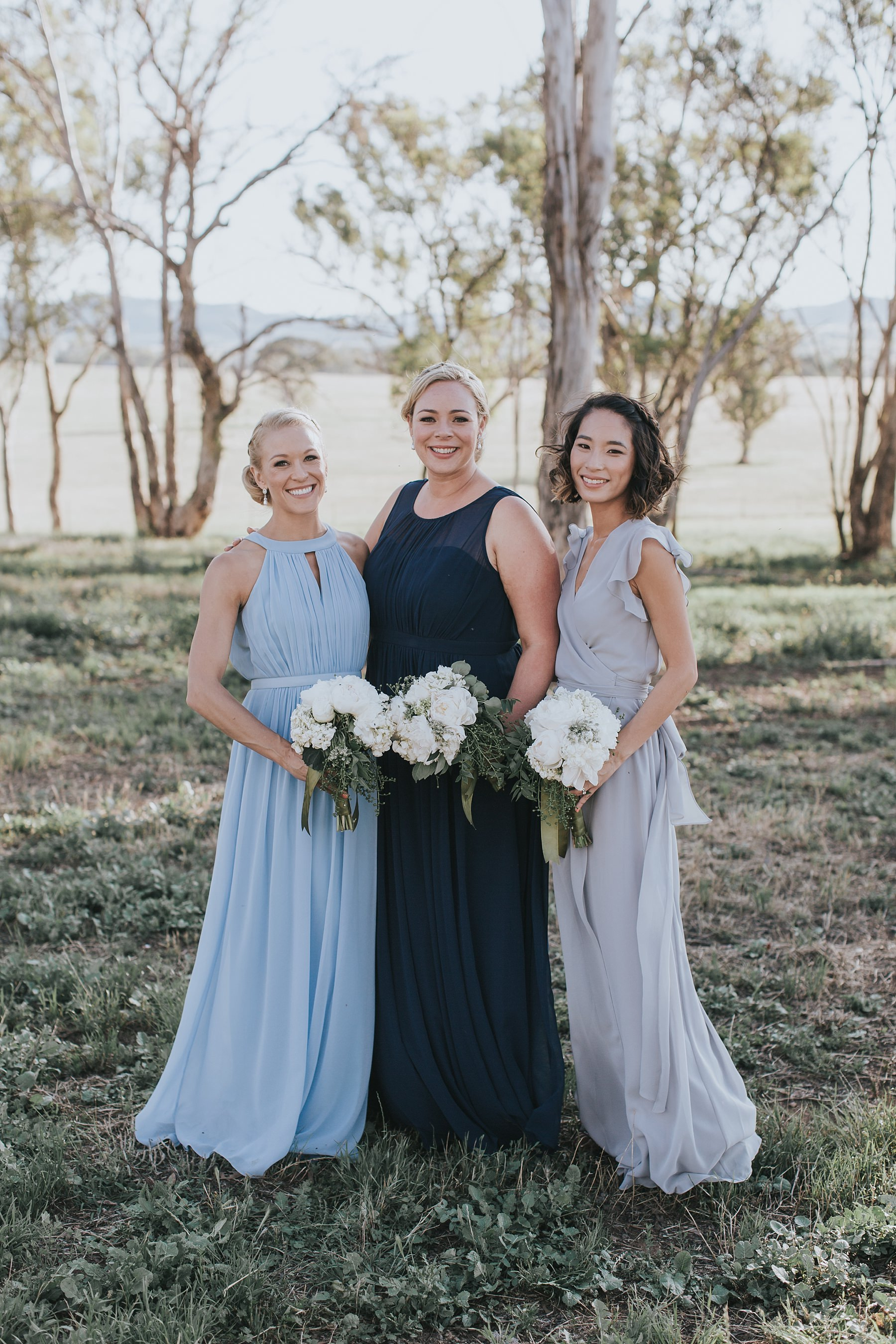 beautiful bridesmaids in country nsw wedding
