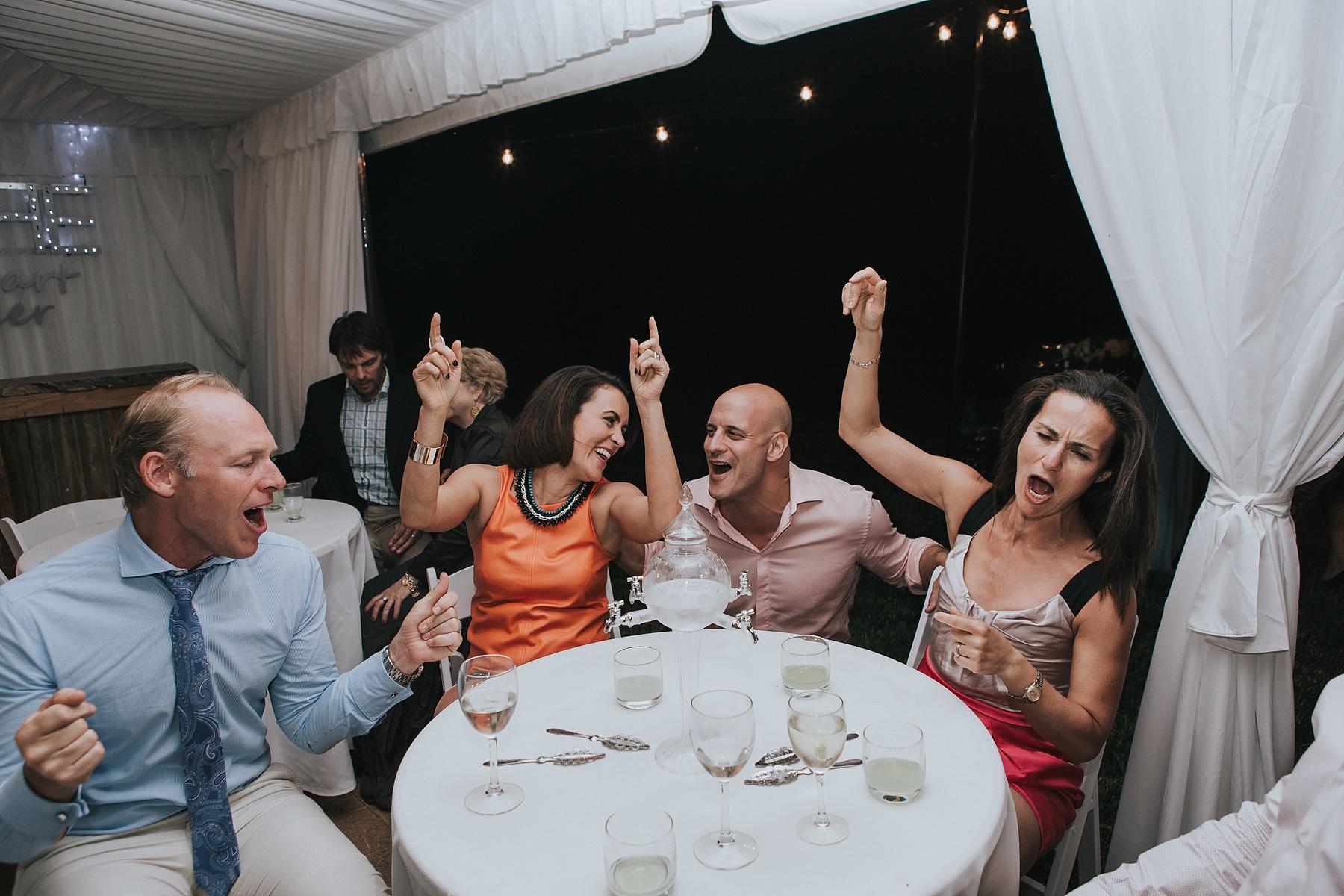 absithne bar at wedding reception in mudgee