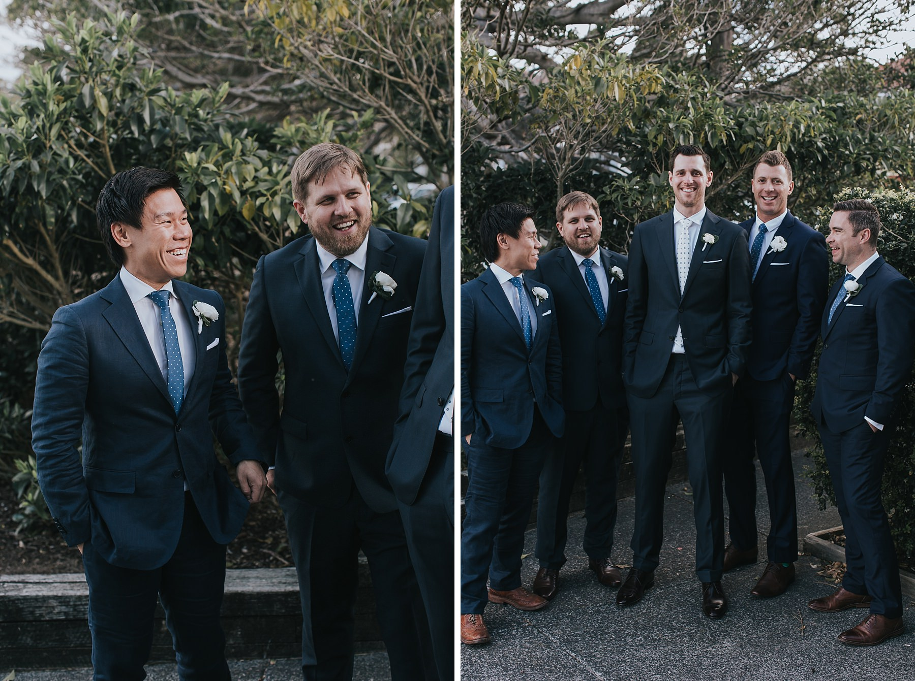 groom with his boys at mosman
