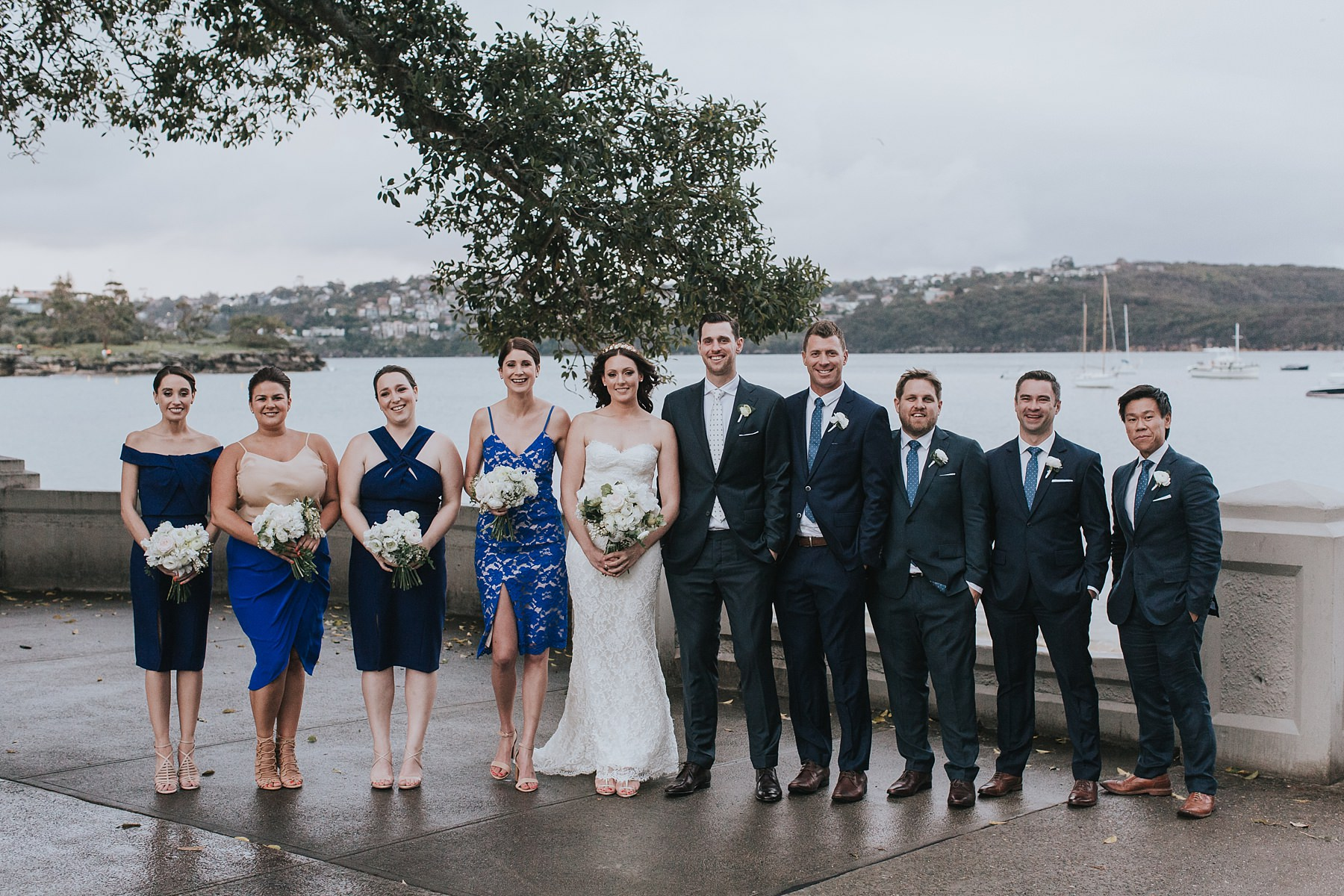 balmoral wedding photographer with bridal party