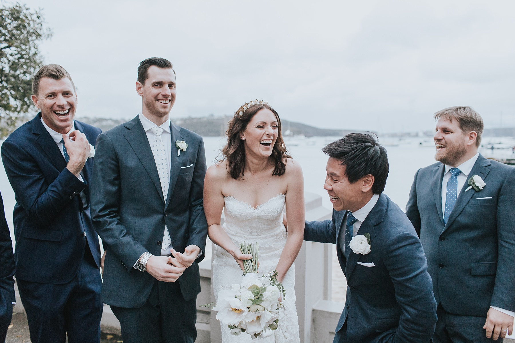 laughter is the best on your wedding day