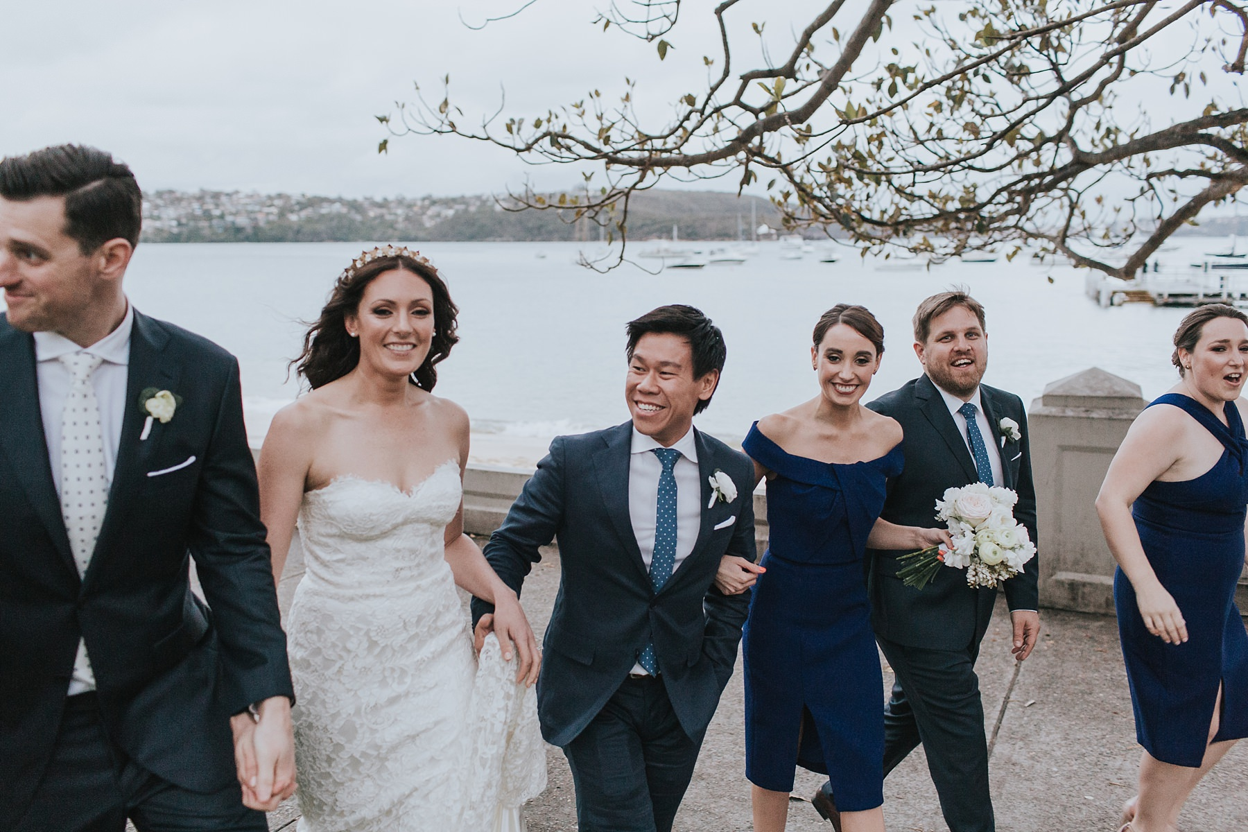 raw photos with bridal party