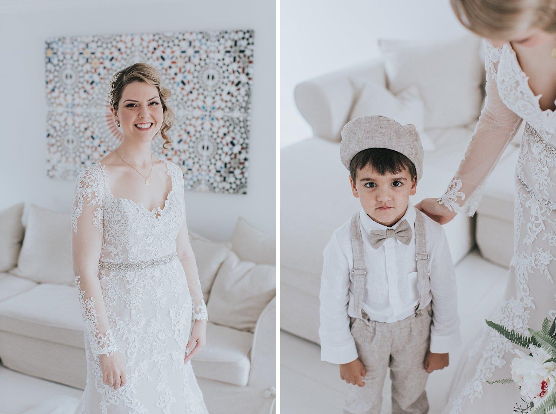 bride with pageboy at sydney wedding