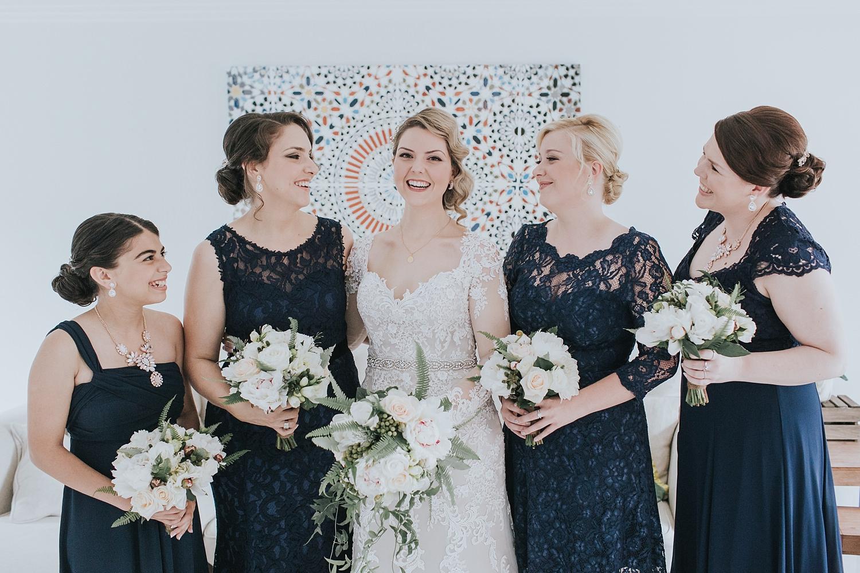 bridesmaids happy before going to sydney wedding ceremony