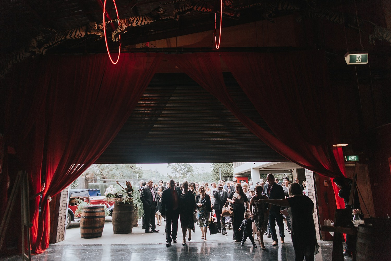 fairground follies wedding ceremony guests arriving