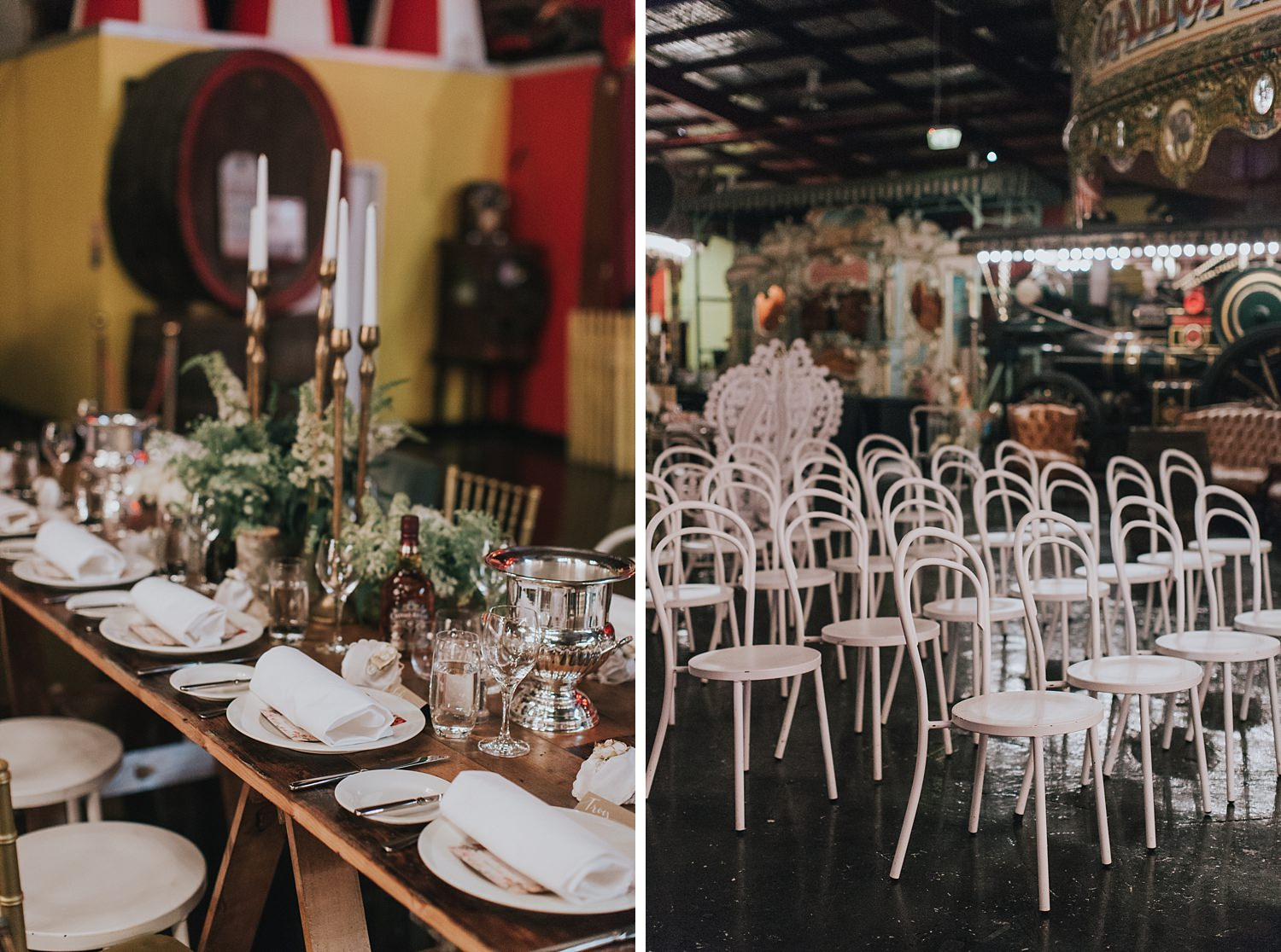 cool and quirky wedding reception ideas at fairground follies