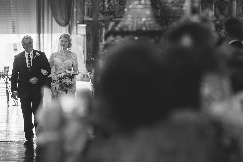 bride arrives at fairground follies wedding photography