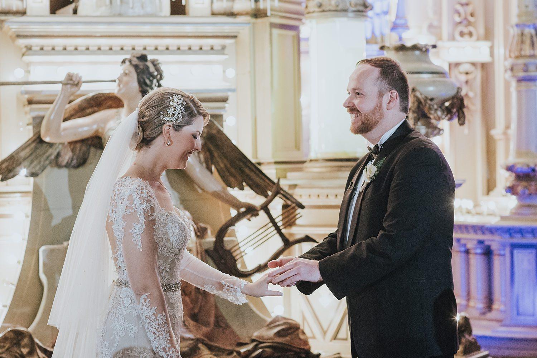 exchange of wedding rings at fairground follies