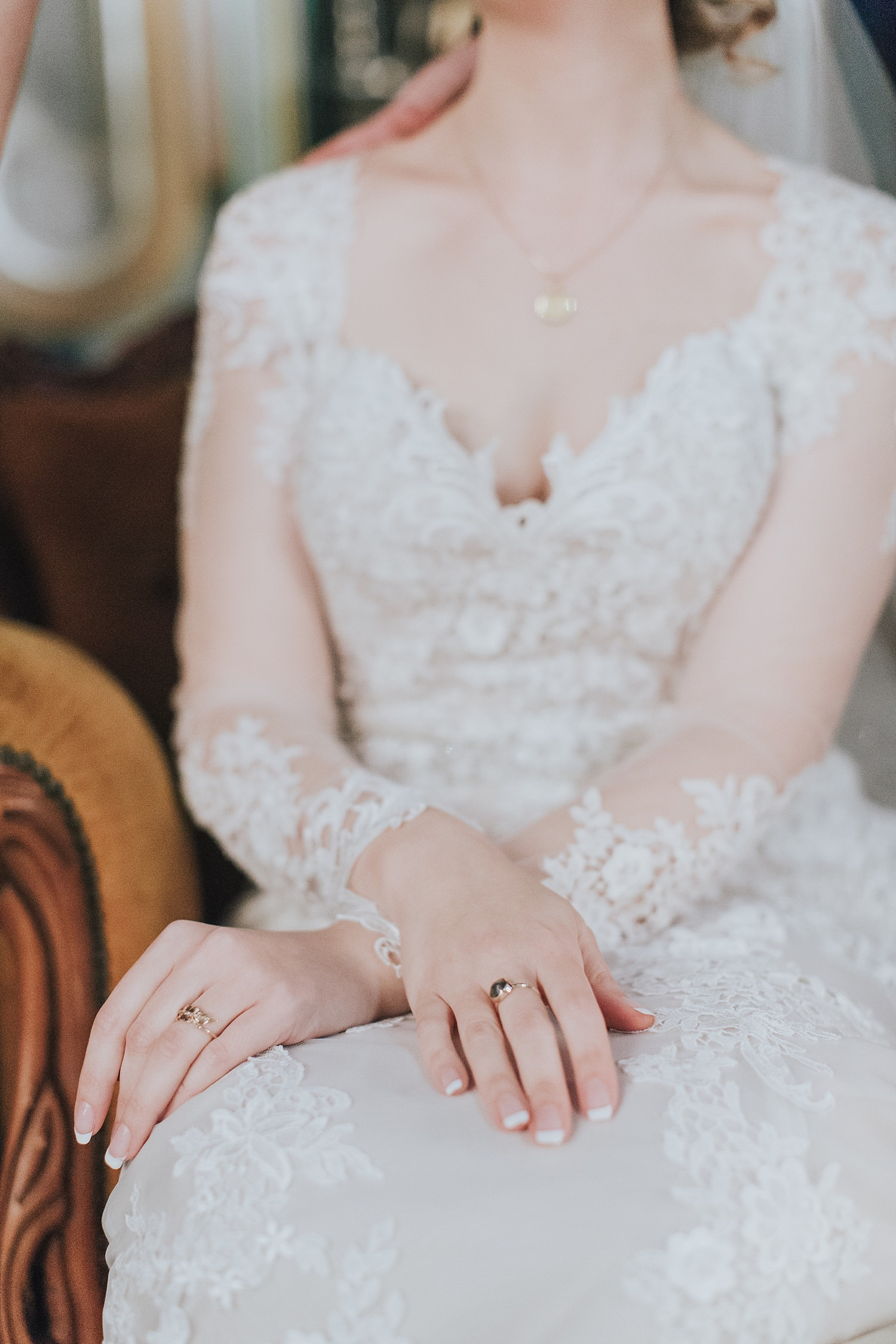 beautiful bride enjoying her wedding day