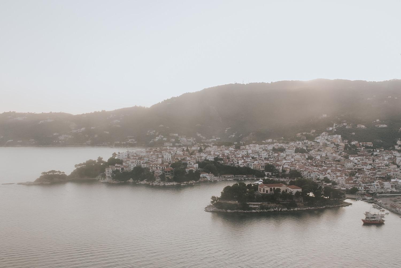 skiathos island greek islands from the sky