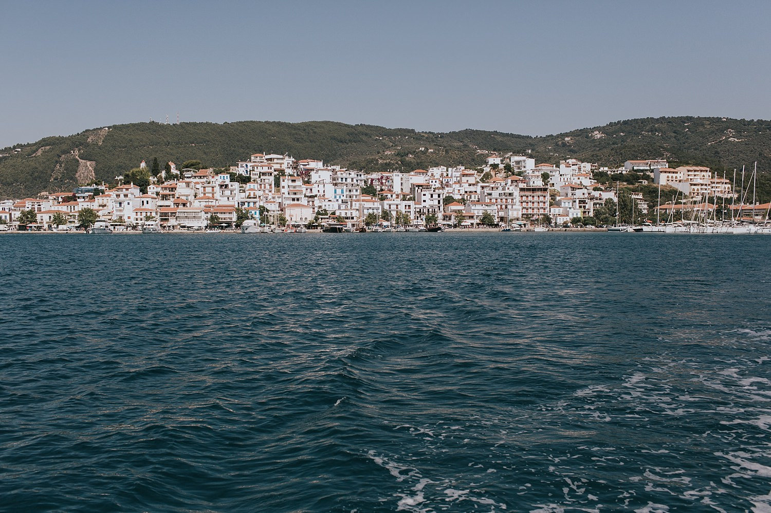 skiathos wedding photos on aegean sea