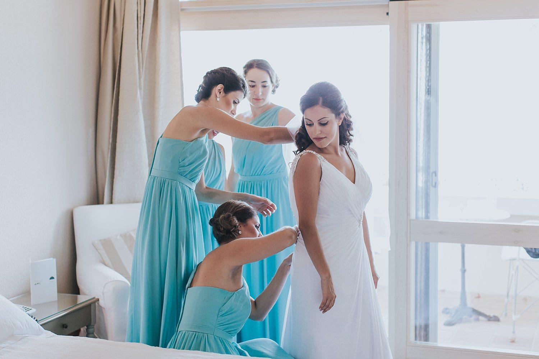 skiathos bride getting ready