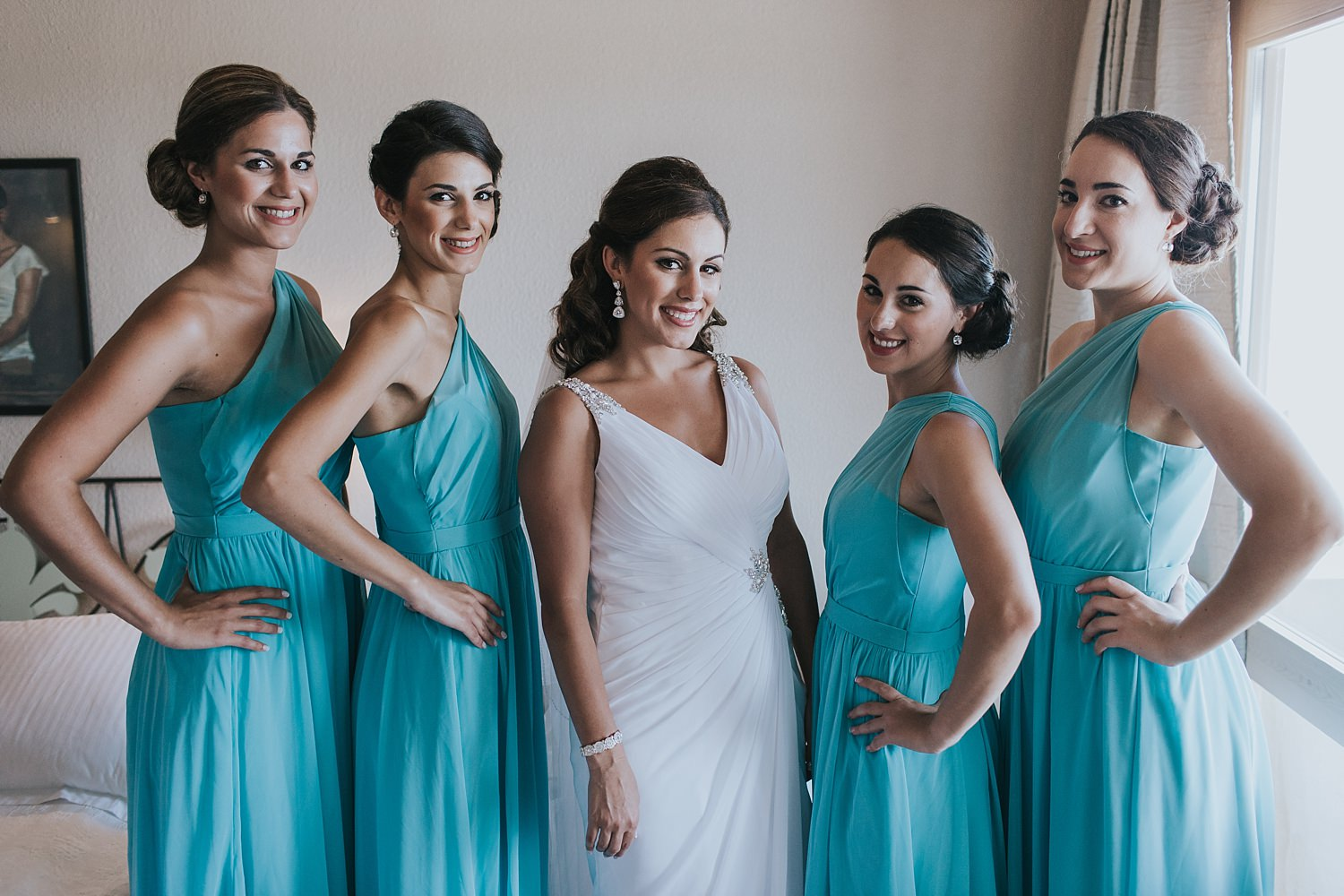 bridesmaids before the wedding ceremony