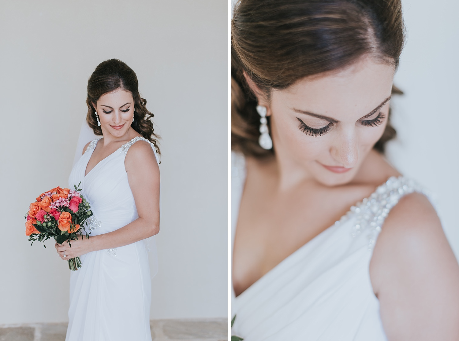 skiathos wedding bride portrait