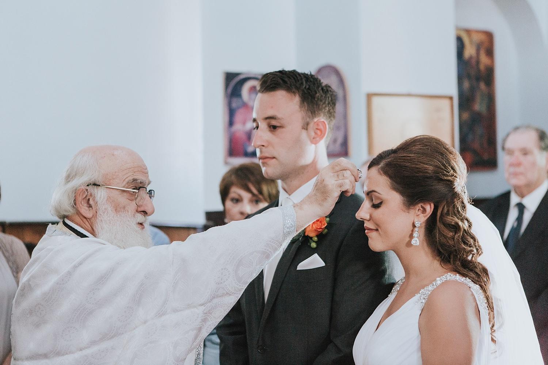 sacrament of marriage in skiathos wedding
