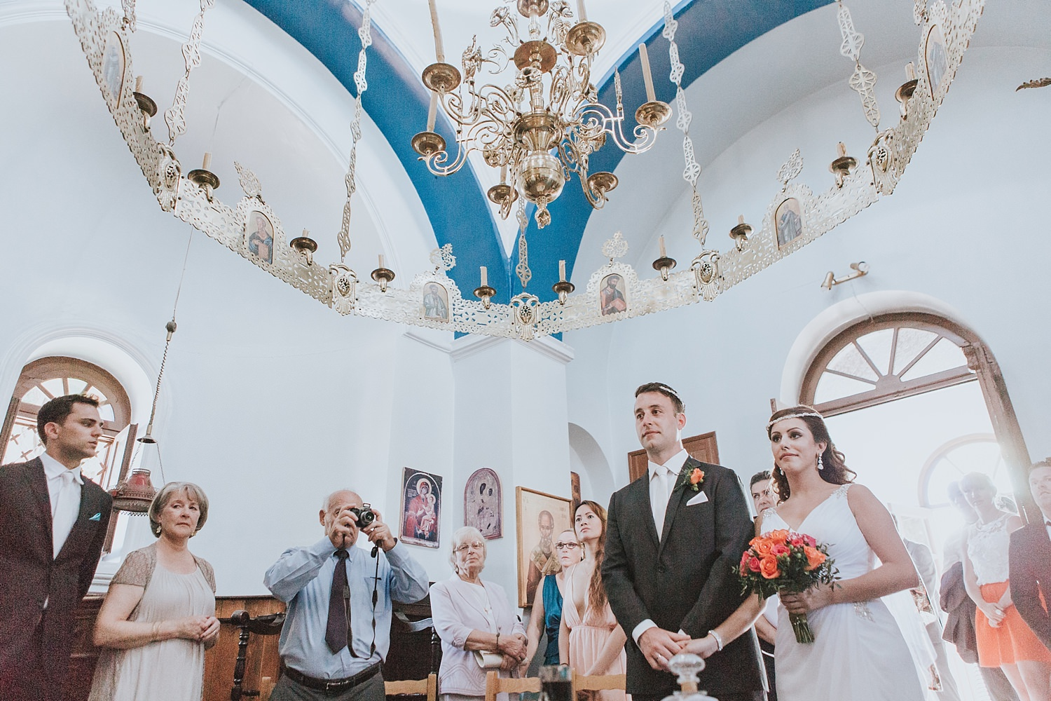 skiathos wedding ceremony in greek orthodox church