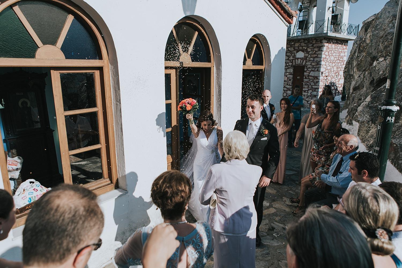 destination wedding photos in skiathos