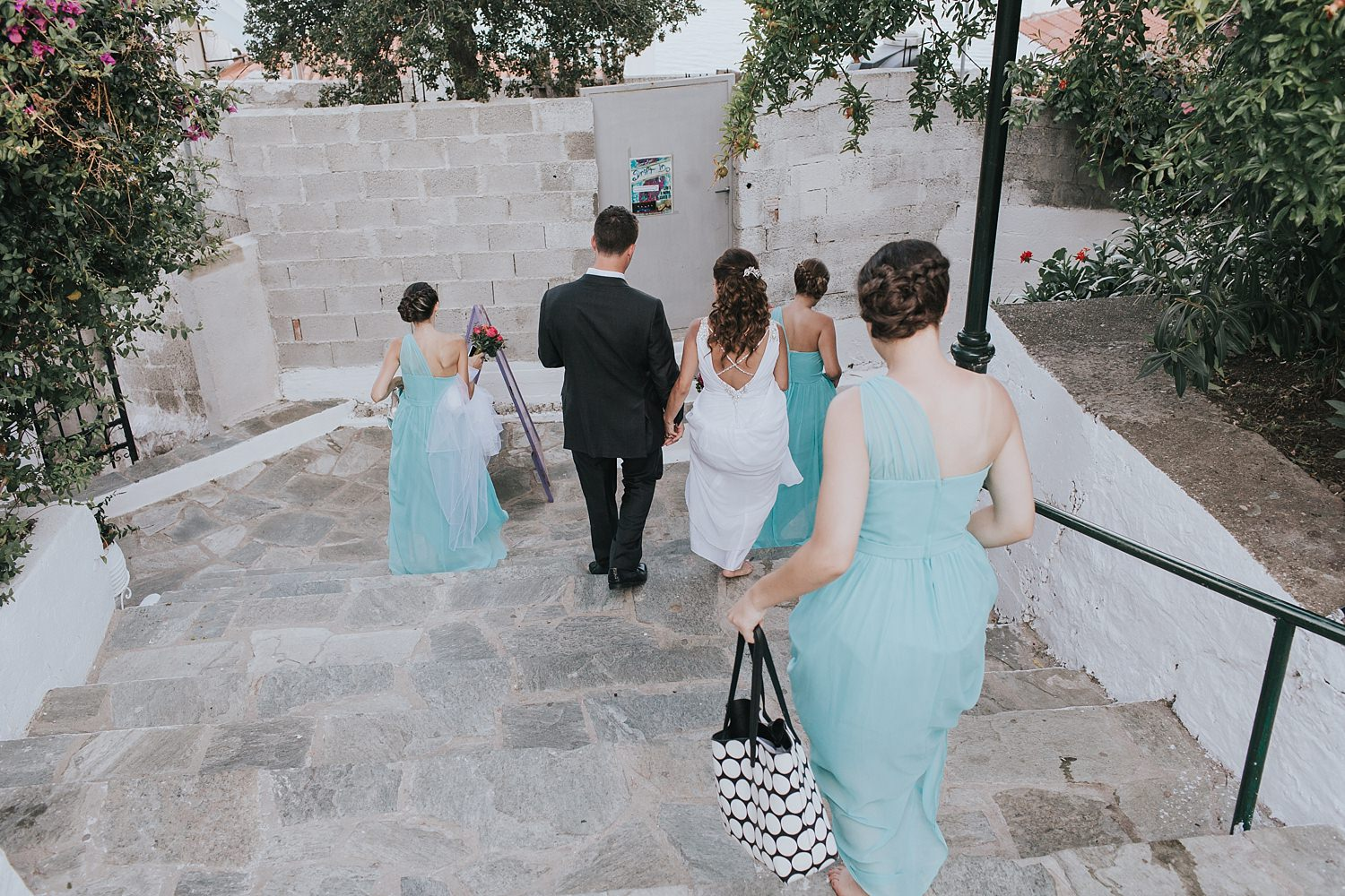 natural wedding photos in skiathos