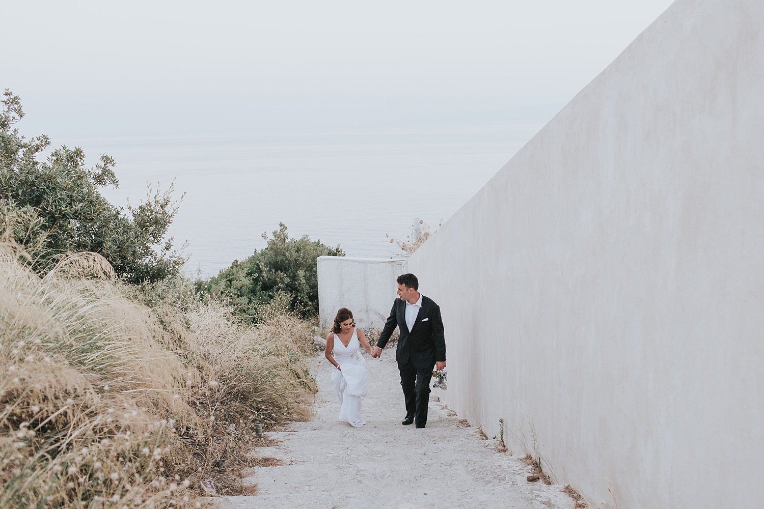 romantic genuine greek islands wedding photography