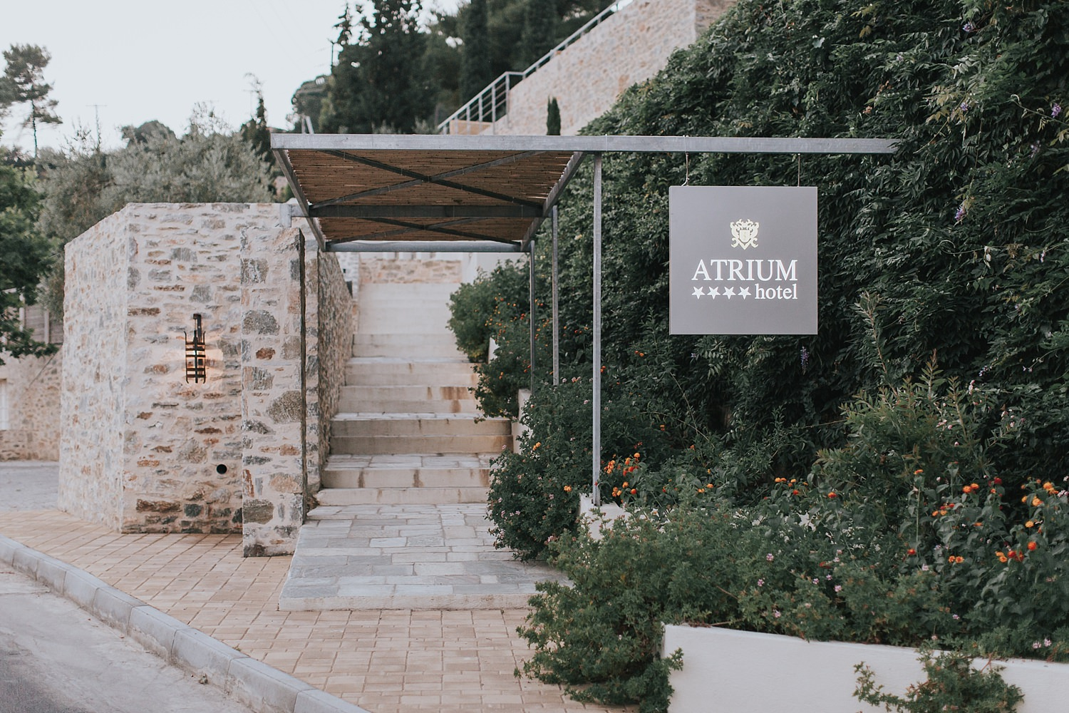 the atrium hotel skiathos wedding reception