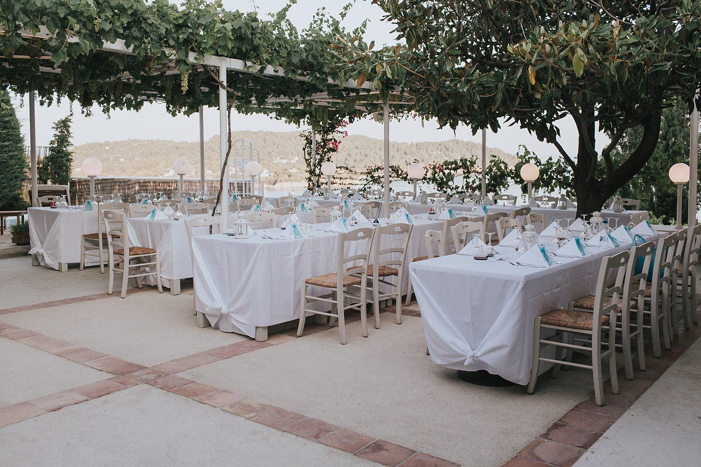 the atrium skiathos wedding reception photos