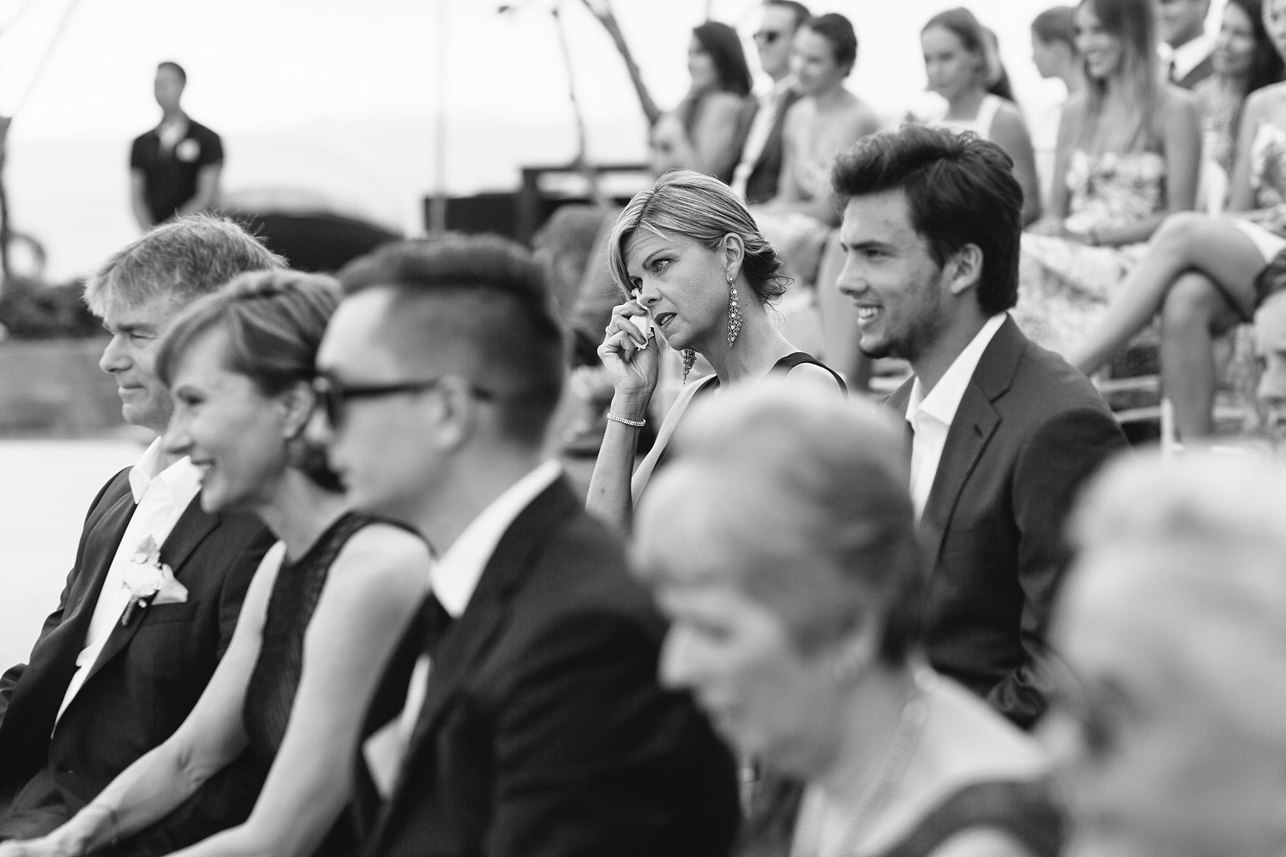 guests emotional during koh samui wedding