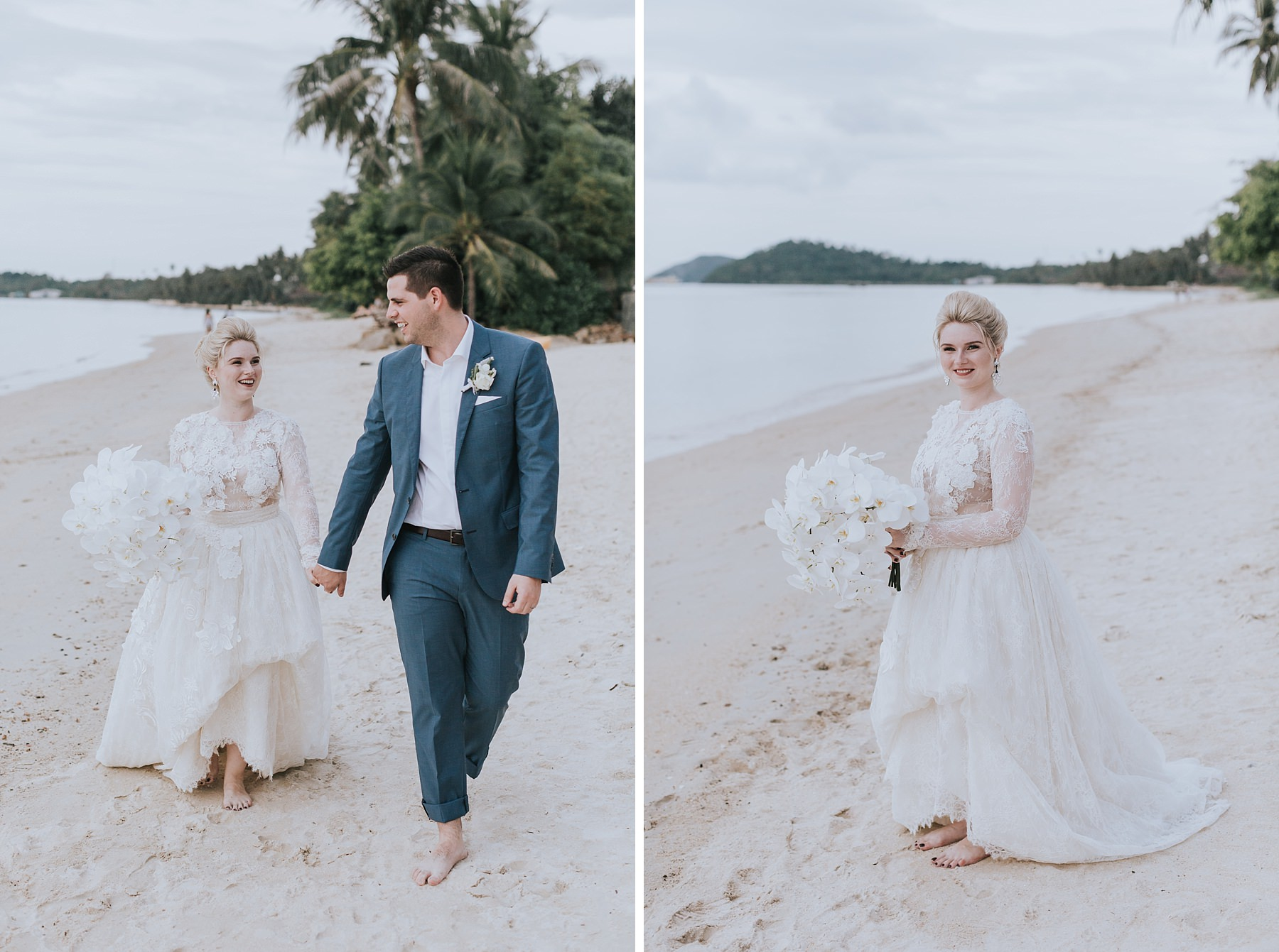 beautiful portraits of bride and groom on koh samui