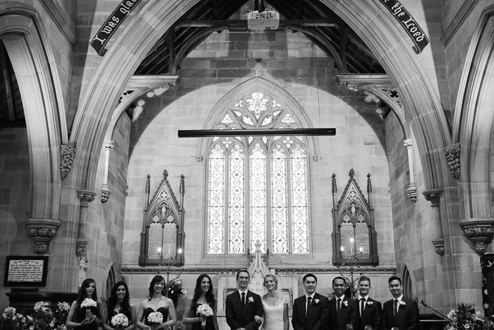 bridal-party-in-anglican-sandstone-church-newtown