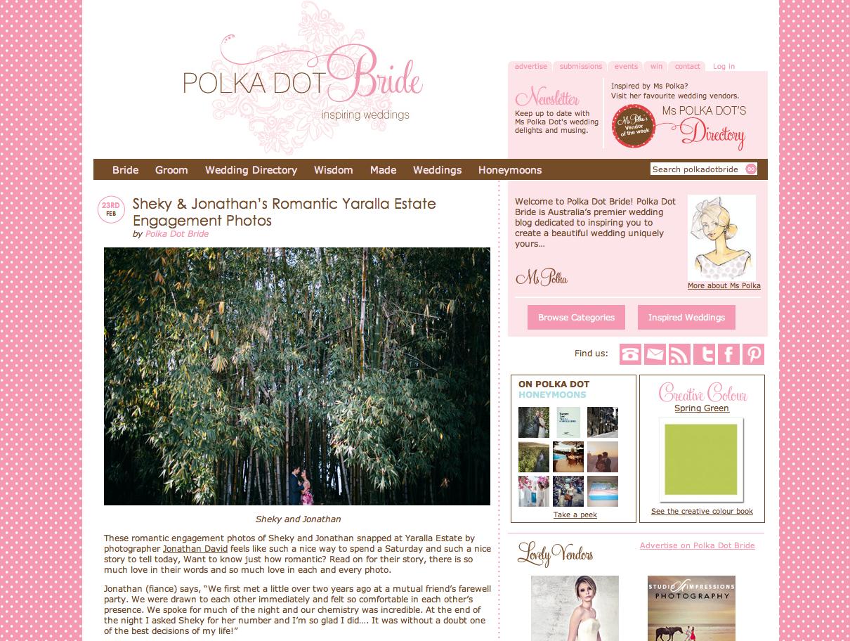 Polka Dot Bride Engagement Feature