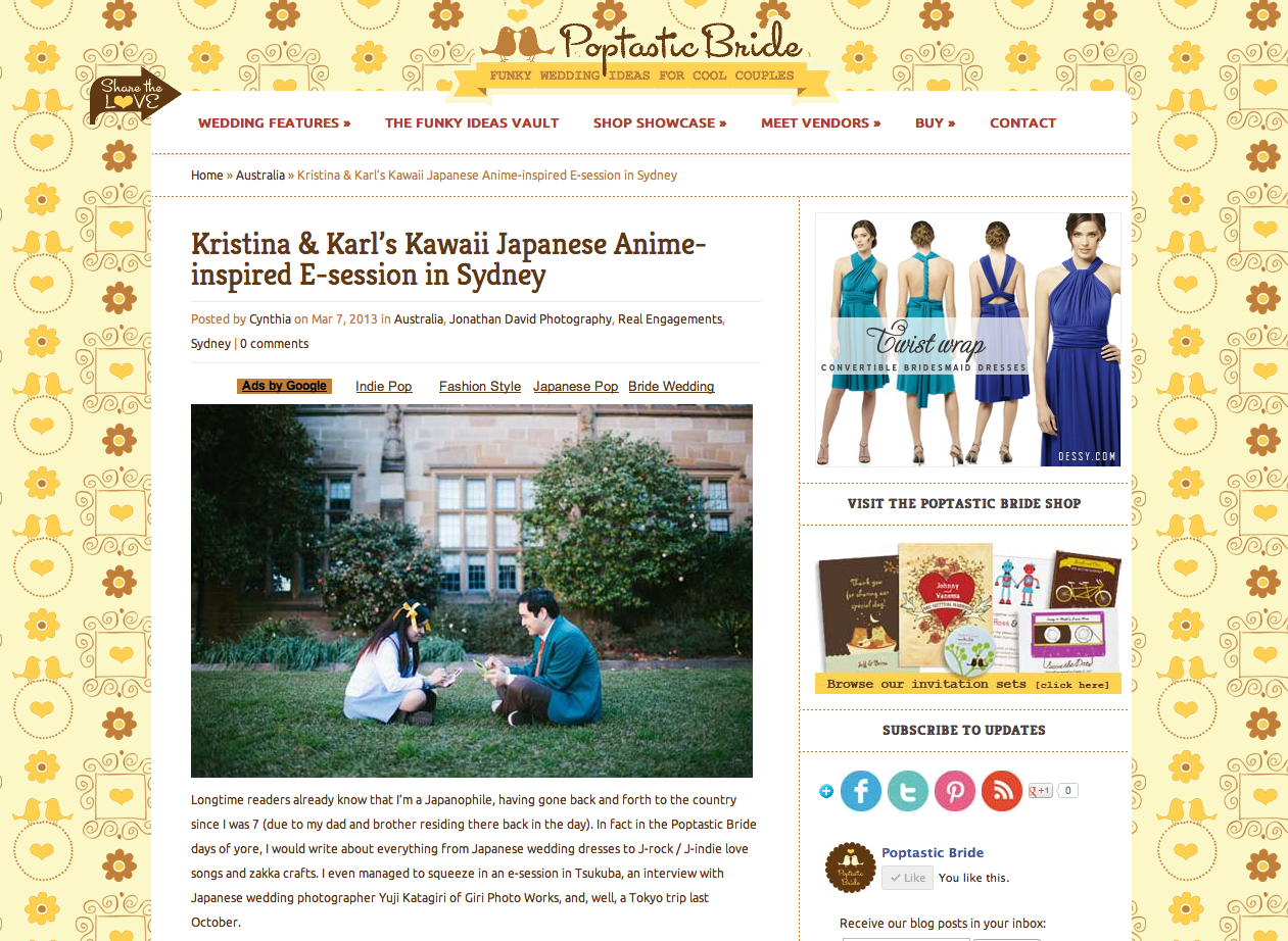 Poptastic Bride Engagement Feature