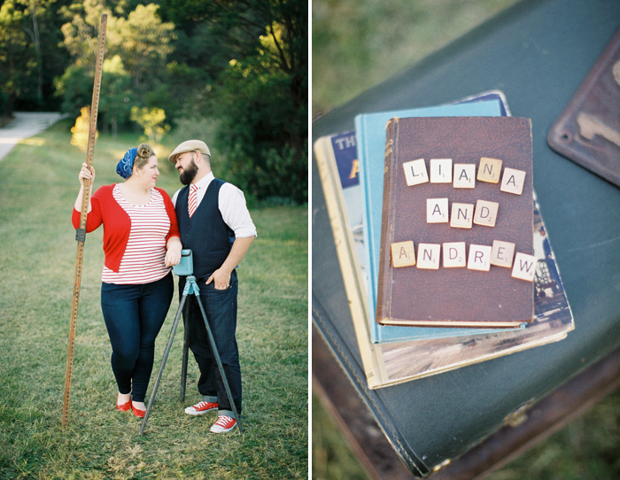 retro-vintage-engagement-session