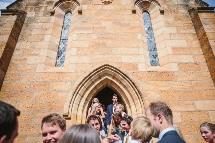 guests leaving st francis xavier catholic church berrima