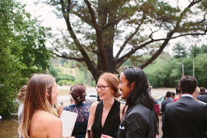 cool guests at berrima wedding