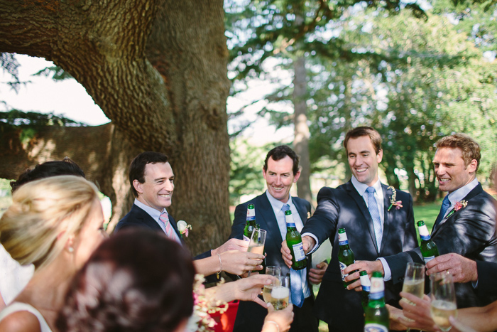 toasting the bride and groom at berrima