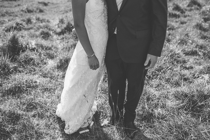 bride and groom at southern highlands wedding