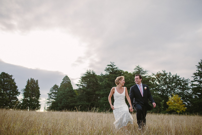 open field wedding photography
