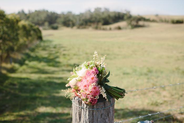 bridal bouquet at bendooley estate